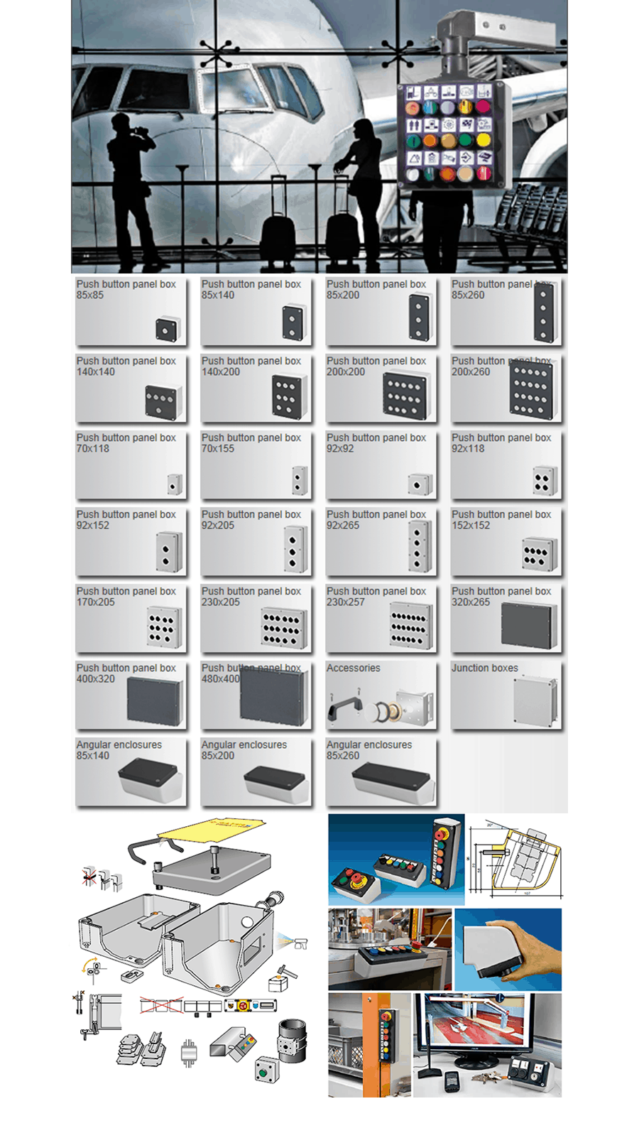 Aluminum box, Enclosures, Safety Control